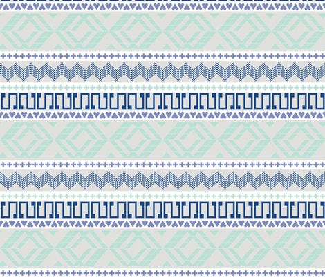 Sweater Weather Blue fabric by veritymaddox on Spoonflower - custom fabric
