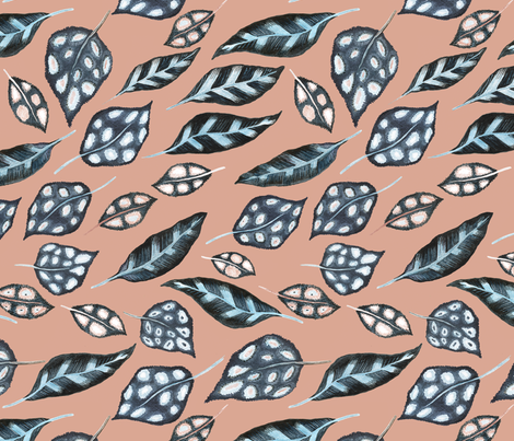 Stormy Leaves fabric by dorrithrem on Spoonflower - custom fabric