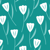Tulips Teal (Bold)