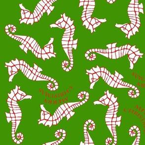 Seahorse Merry Christmas