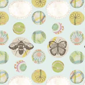 Bee and Butterfly Garden Pattern 4