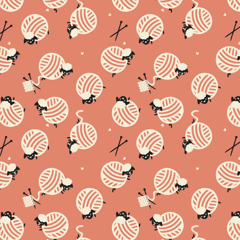 Knit Sheep fabric by ginamayes on Spoonflower - custom fabric