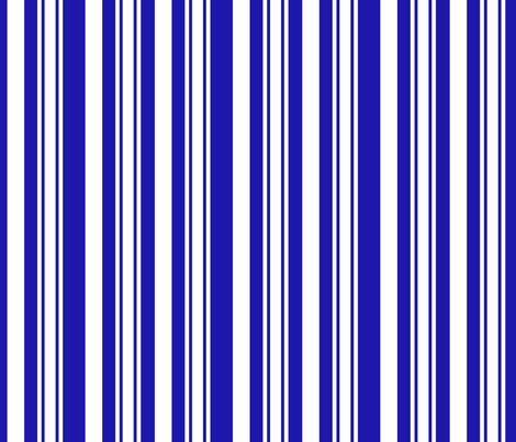 Blue And White Stripes fabric by bags29 on Spoonflower - custom fabric