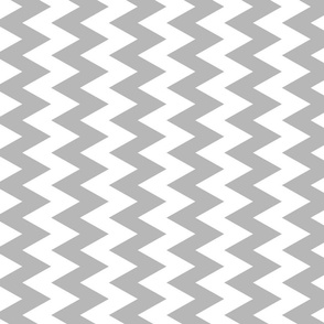 Grey And White Zigzag
