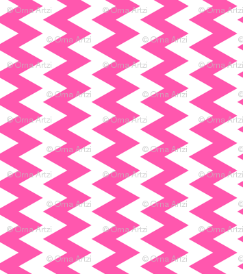 Pink And White Zigzag