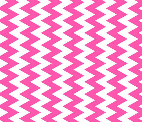 Pink And White Zigzag fabric by ornaart on Spoonflower - custom fabric