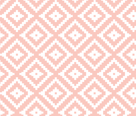 Aztec // pink fabric by littlearrowdesign on Spoonflower - custom fabric