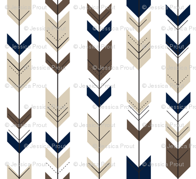 Fletching Arrows // Navy/tan/dark brown