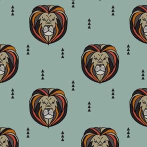 lion // teal