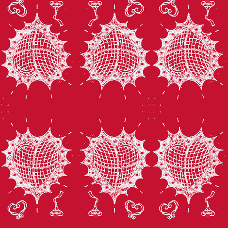 hearts and kisses 8 fabric by fashionita_boutique on Spoonflower - custom fabric