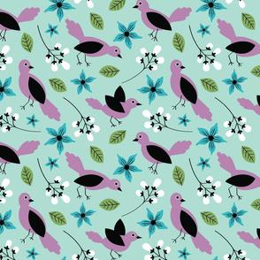 Hello Birdie-Mint, Mint & Lavender