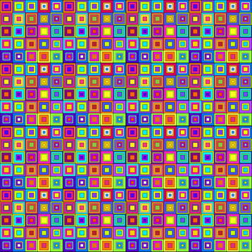 Modern Retro Squares fabric by sssowers on Spoonflower - custom fabric