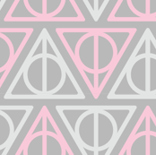 Pastel Potter - Pink/Gray Deathly Hallows