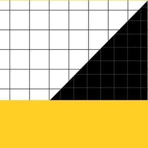 black white yellow grid