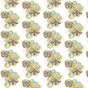 Bee and Butterfly Pattern 3