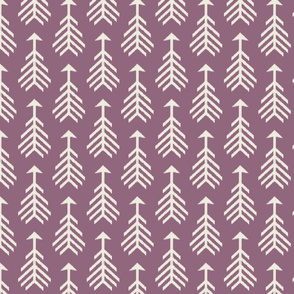 Arrows-Smokey Plum & Cream