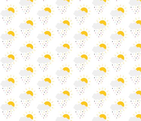 sunny stormy fabric by misstiina on Spoonflower - custom fabric