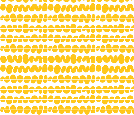 sunny stormy scallops 2 yellow fabric by misstiina on Spoonflower - custom fabric