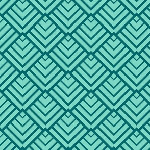 Art Deco Diamonds, Teal