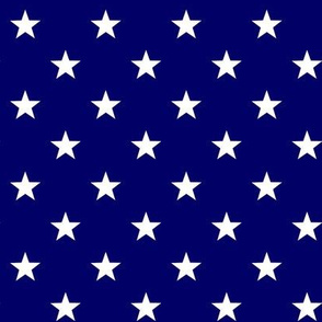 Patriotic American Flag Blue and White Stars