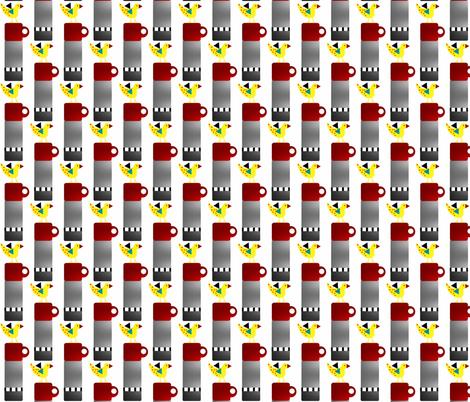 Birds of a Feather  fabric by kimruss@thatcatart on Spoonflower - custom fabric