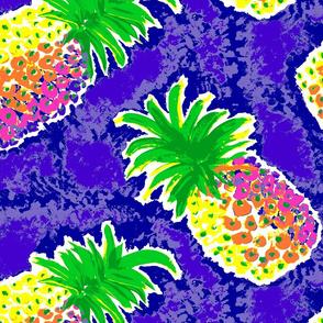 Pineapple in Blue