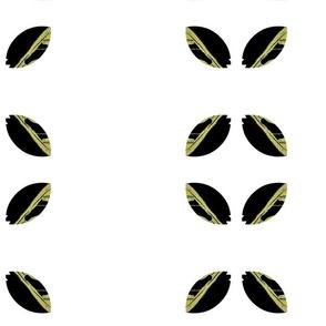 Charcoal Diamond Leaves/whte