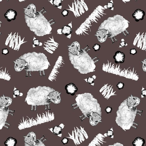 Rrrditsy_sheep_black_and_white_on_brown_shop_preview