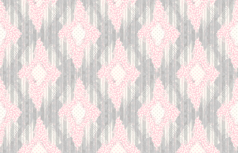 Anna's Ikat fabric by lulabelle on Spoonflower - custom fabric