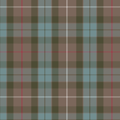 Fraser Hunting weathered tartan fabric by weavingmajor on Spoonflower - custom fabric