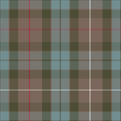 1/3 scale Fraser Hunting weathered tartan