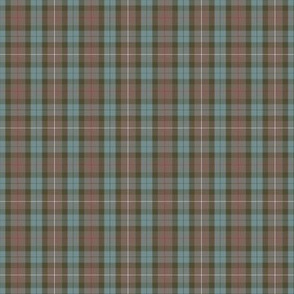 "2"" (1/3 scale) Fraser Hunting weathered tartan"