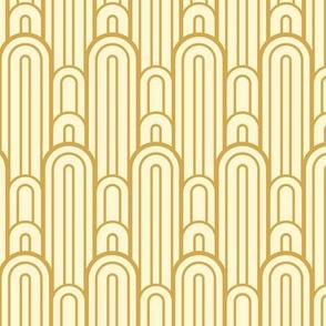Art Deco Skyscraper Scallop, Gold
