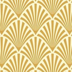 Art Deco Fans, Gold