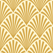 Art Deco Fans, Gold
