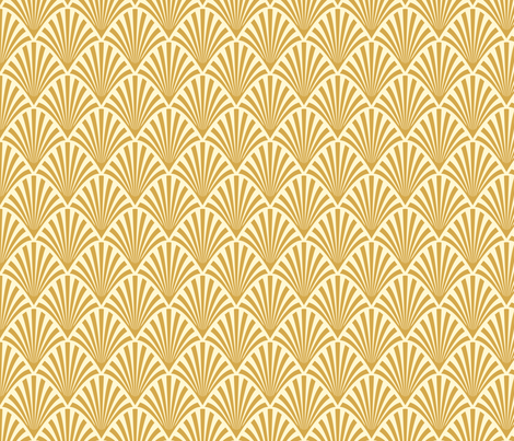 art deco fans gold fabric magentayellow spoonflower. Black Bedroom Furniture Sets. Home Design Ideas