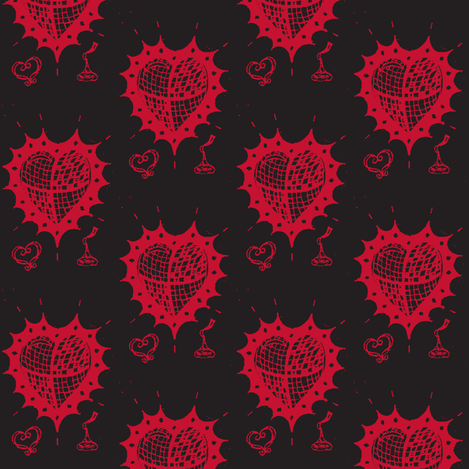 hearts and kisses 12 fabric by fashionita_boutique on Spoonflower - custom fabric