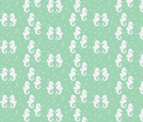 seahorse-ch-ch-ch-ch fabric by mayadesign on Spoonflower - custom fabric
