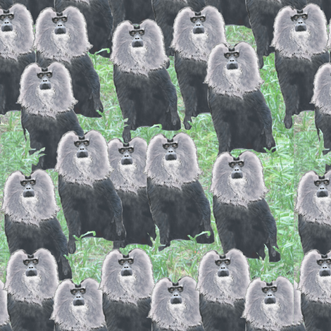 Lion Monkey Tribe fabric by duvadox on Spoonflower - custom fabric