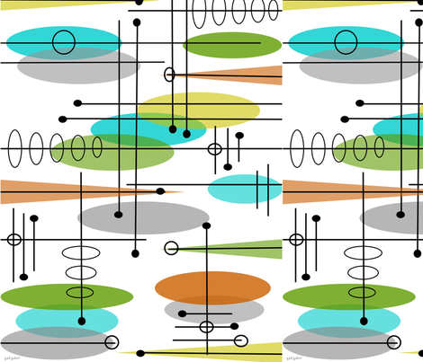 Space Age Atomic Inspired fabric by hot4tees_bg@yahoo_com on Spoonflower - custom fabric