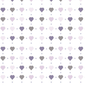 Purple and Grey Hearts