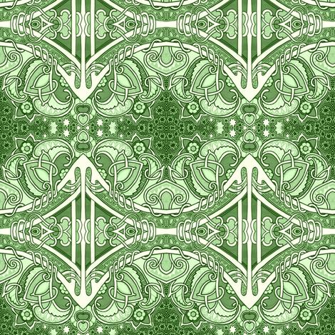 Revenge of the Green Scallops fabric by edsel2084 on Spoonflower - custom fabric
