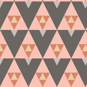 Triangle Stack - Pink and Gray