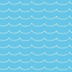 Icy Blue Doodle Waves