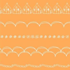 Tangerine Doodle Blooms