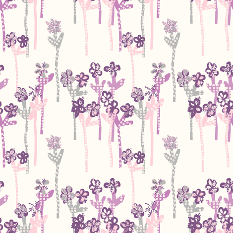 Anna's Garden fabric by lulabelle on Spoonflower - custom fabric