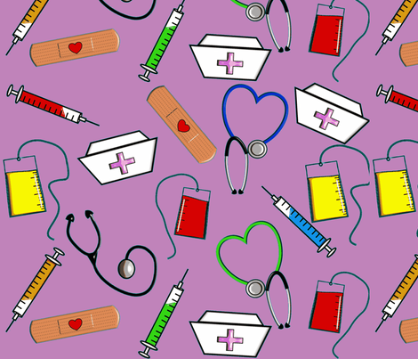 Nurse Theme-ch-ch fabric by hot4tees_bg@yahoo_com on Spoonflower - custom fabric
