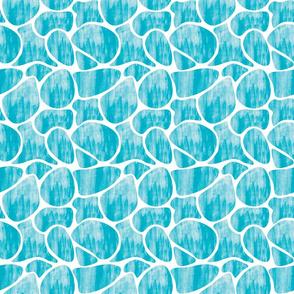 Watercolour pebbles blue