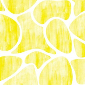 Watercolour pebbles yellow