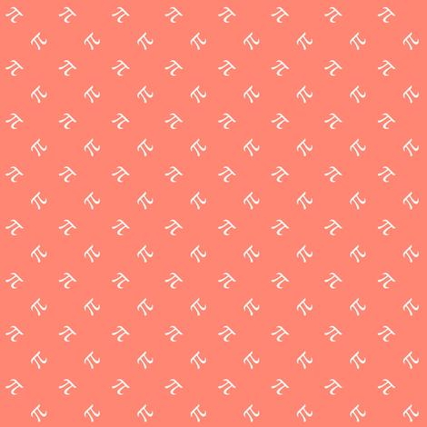 Coral Pi diamonds fabric by weavingmajor on Spoonflower - custom fabric